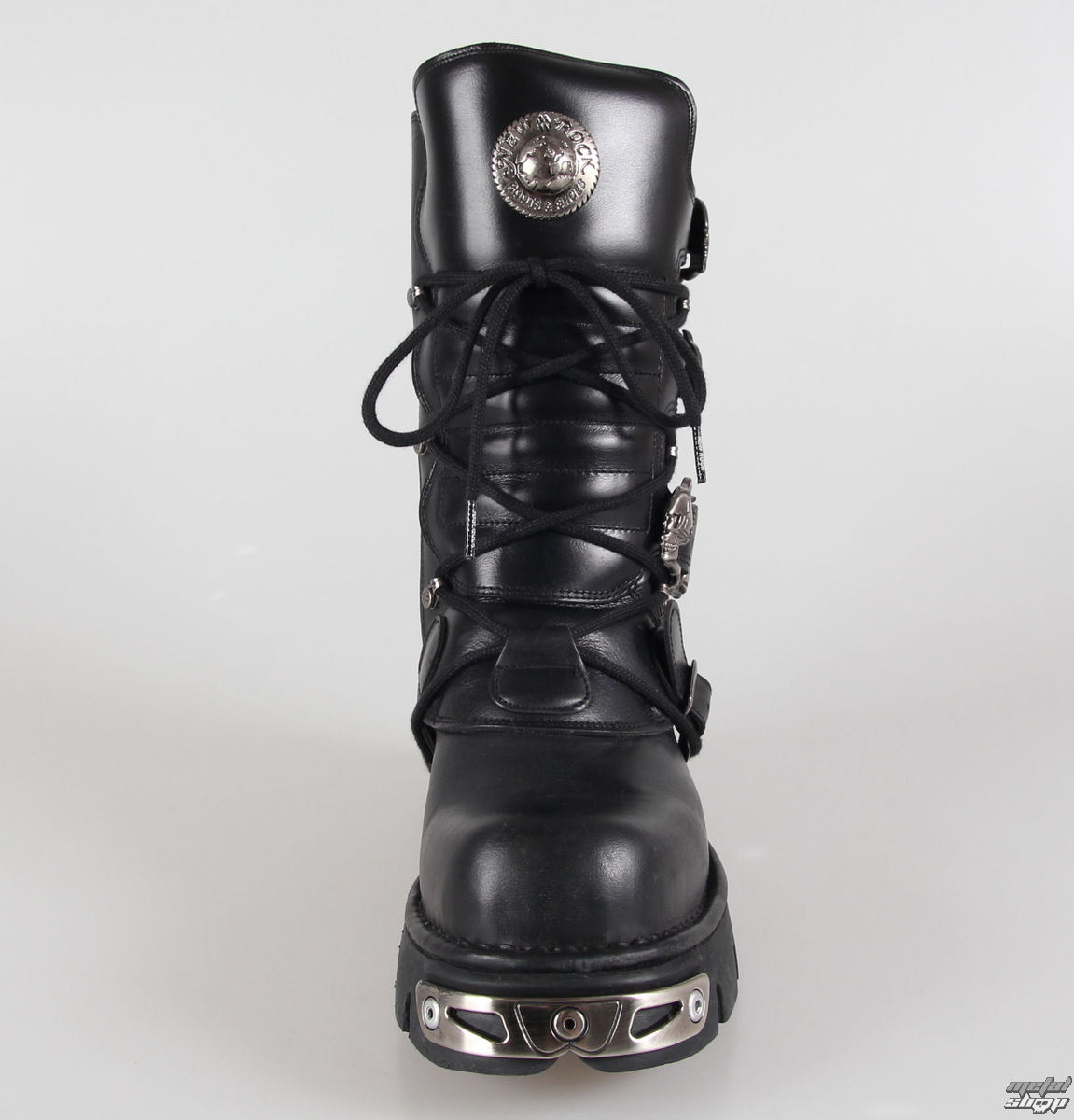 Punk Boots NEW ROCK Basic Stiefel (373 S4) schwarz