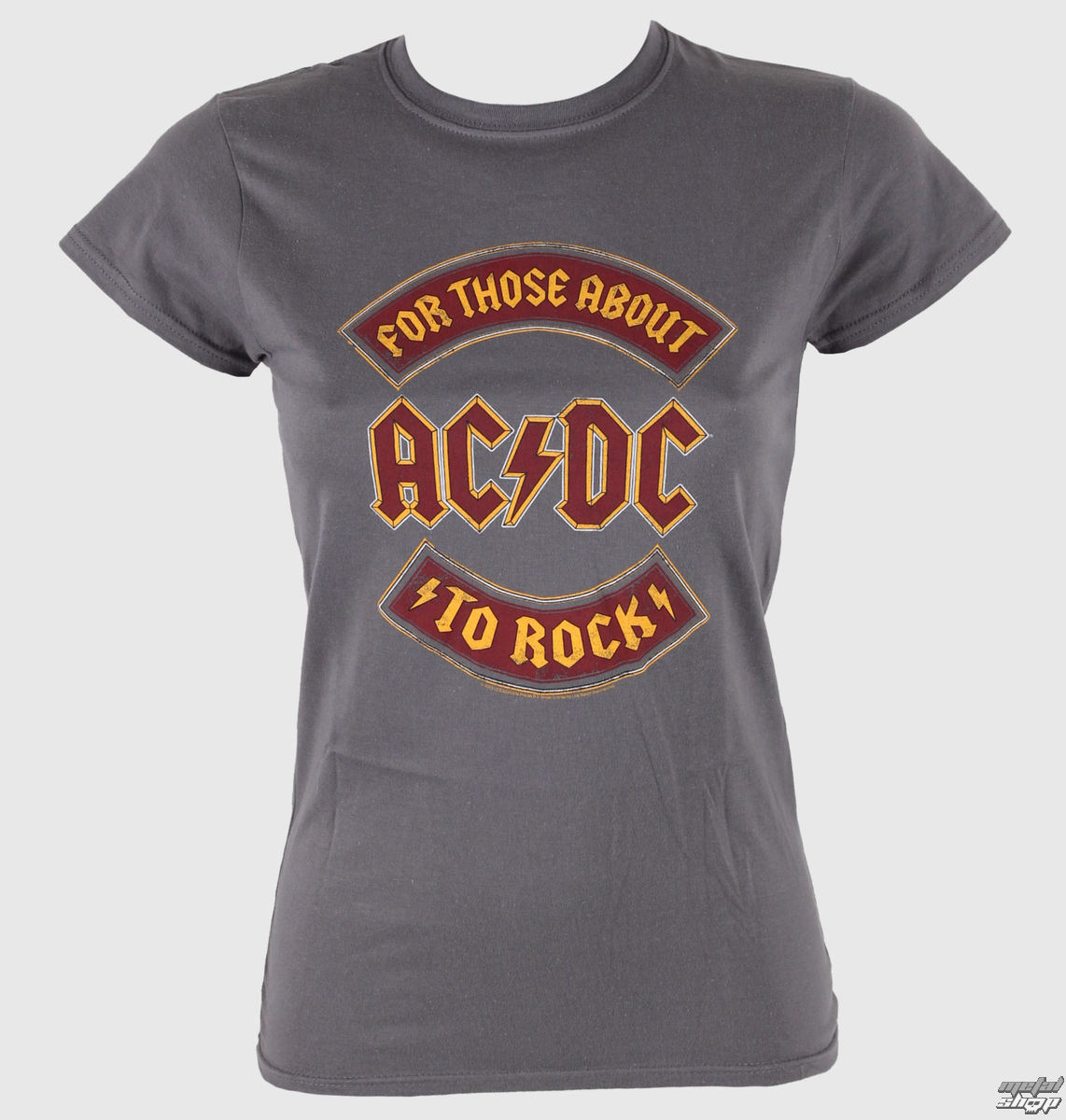 damen t shirt ac dc about to rock banner live nation. Black Bedroom Furniture Sets. Home Design Ideas