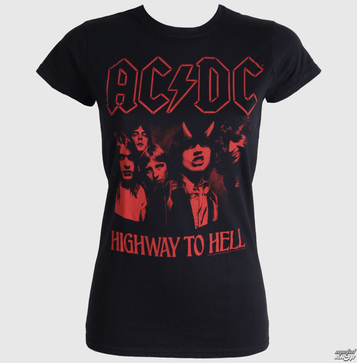 damen t shirt ac dc higway to hell red live nation. Black Bedroom Furniture Sets. Home Design Ideas