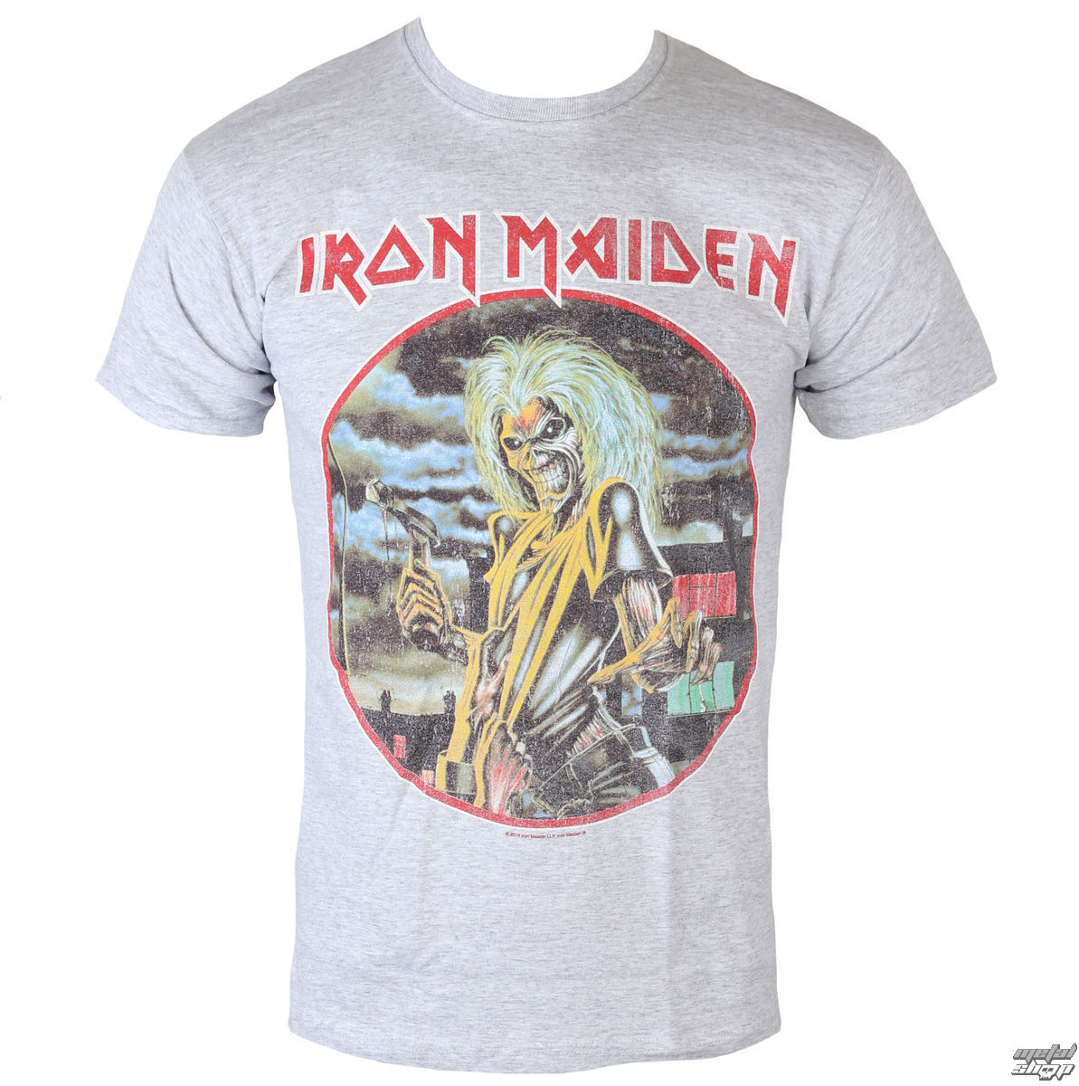 T-Shirt Männer  Iron Maiden - Killers - cirlcle - Heather - ROCK OFF