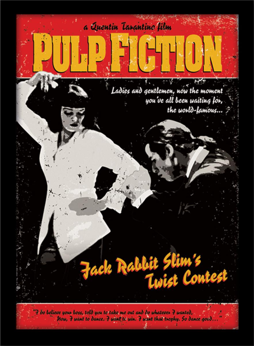 Poster mit Bilderrahmen Pulp Fiction   Twist Contest   PYRAMID POSTERS