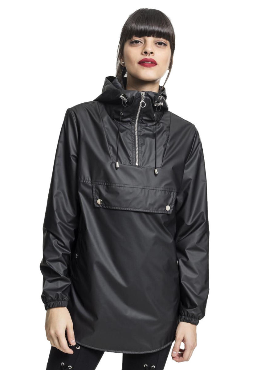 Damen Jacke URBAN CLASSICS - High Neck - schwarz