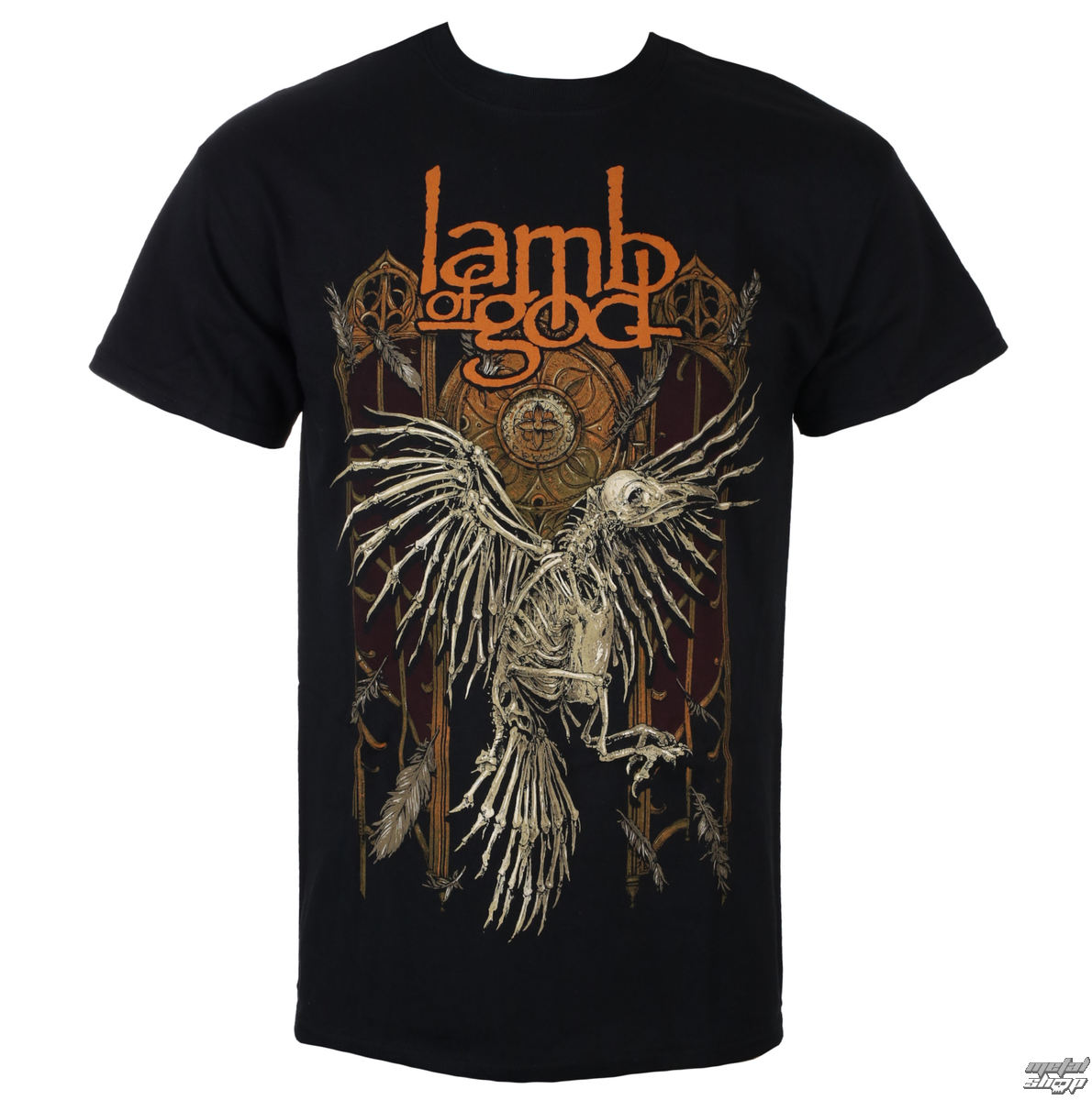 Herren T-Shirt Metal Lamb of God - Crow - ROCK OFF