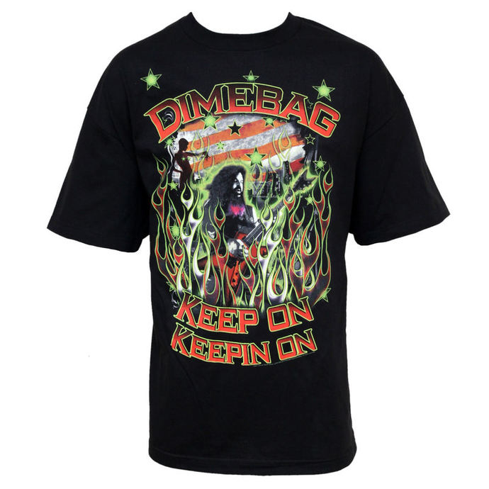Herren T-Shirt Pantera - Dimebag Darrell - Flags And Stars