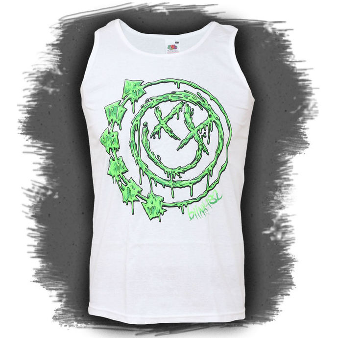 Muskelshirt Men Blink 182 - White Slimer
