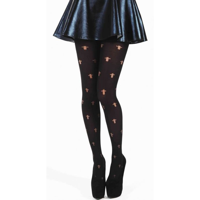 Strumpfhose PAMELA MANN - Opaque Cross Tights - Black