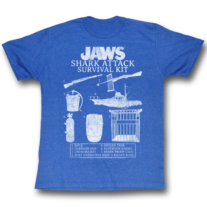 Herren T-Shirt Jaws (Der weiße Hai)  - Survival Kit 2 - AC