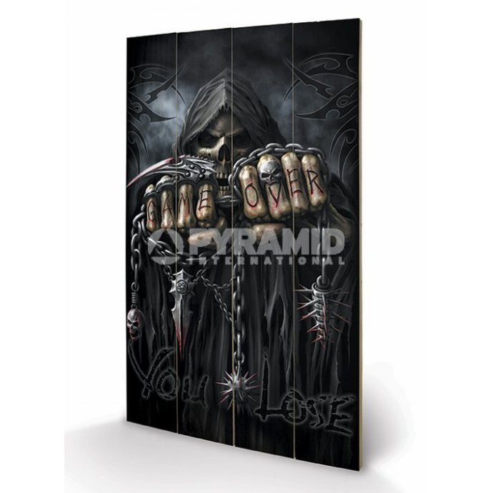Holzbild Spiral - Game Over - Reaper - PYRAMID POSTERS