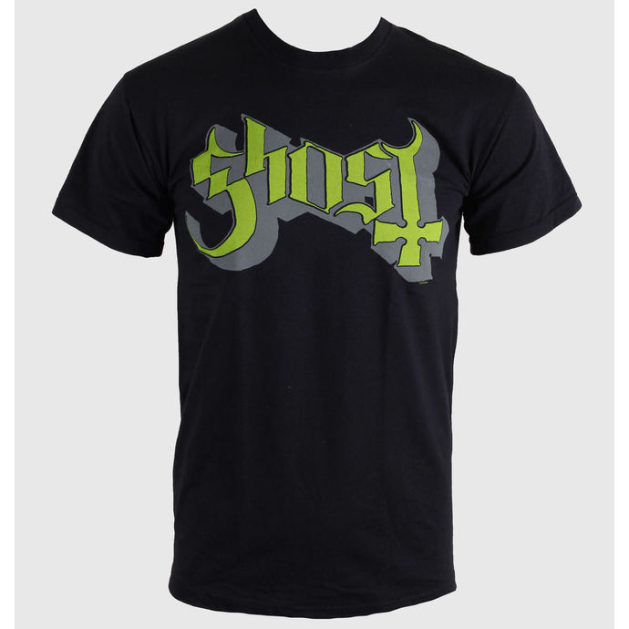 Herren T-Shirt   Ghost - Keyline Logo - Green Grey - ROCK OFF