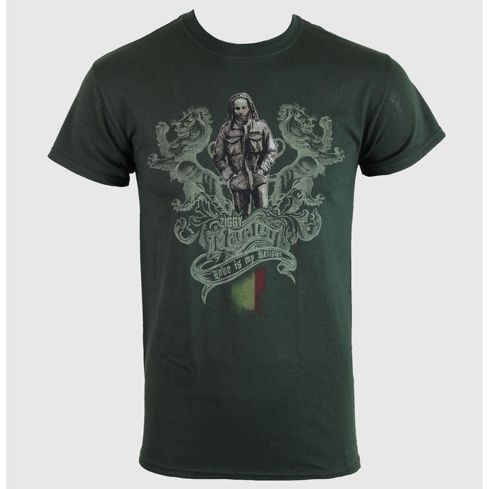Herren T-Shirt   Ziggy Marley - Love Religion - Green - KINGS ROAD