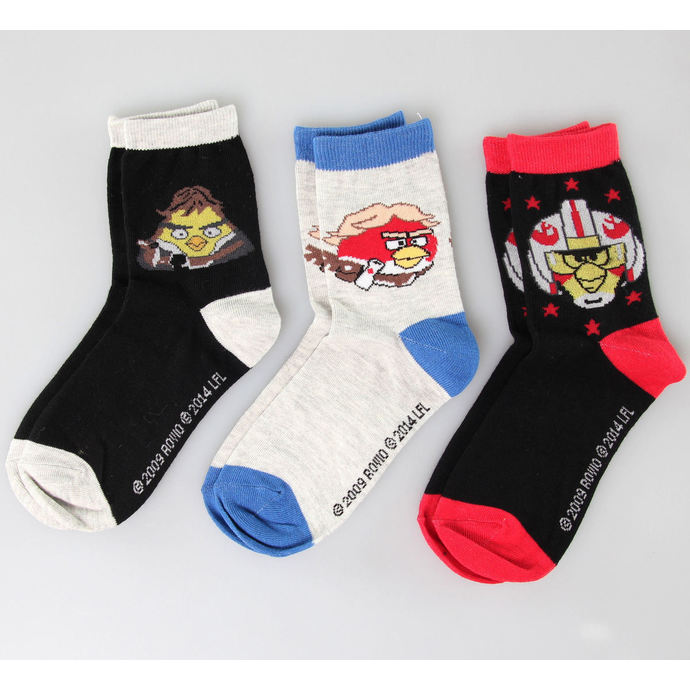 Socken TV MANIA - Angry Birds - Black/Blue/Red