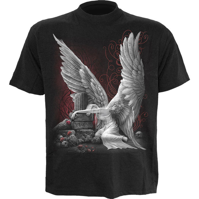 Herren T-Shirt SPIRAL - TEARS OF AN ANGEL - BLK