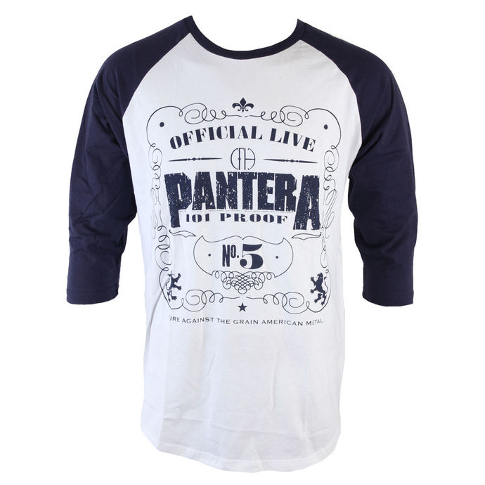 Herren T-Shirt  mit 3/4-Arm Pantera - 101 Proof - ROCK OFF