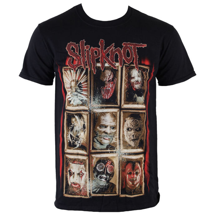 Herren T-Shirt  Slipknot - New Masks - Black - ROCK OFF