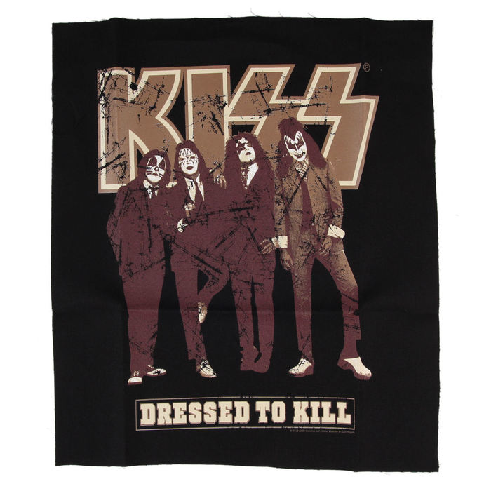 Aufnäher  KISS - Dressed to Kill - BLK - LOW FREQUENCY