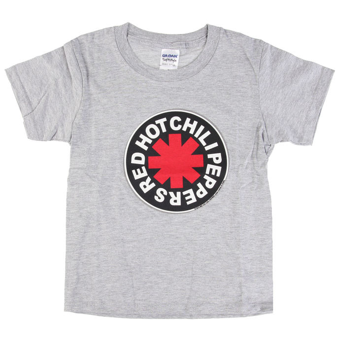 Kinder T-Shirt Metal Red Hot Chili Peppers - Logo in Circle Grey -