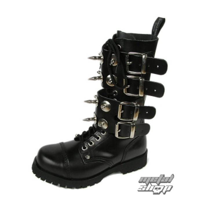 Schuhe BOOTS AND BRACES - Scare 4-buckles - SCHWARZE