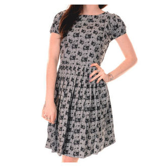 Damen Kleid 3RDAND56th - Pleated Pug - Silver/Grey - JM1254