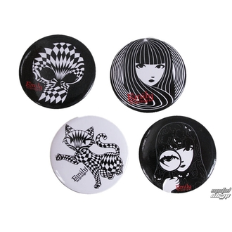 Badge klein EMILY THE STRANGE - Emily (E4082315) Optical Strange Badge Set