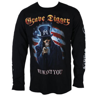 Herren Longsleeve Metal Grave Digger - UNCLE SAM 2016 - Just Say Rock, Just Say Rock, Grave Digger