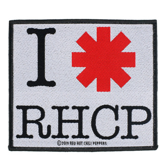 Patch Aufnäher Red Hot Chili Peppers - I Love RHCP - RAZAMATAZ, RAZAMATAZ, Red Hot Chili Peppers
