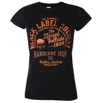 Damen T-Shirt BLACK LABEL SOCIETY - HARDCORE HELLRIDE - PLASTC KOPF, PLASTIC HEAD, Black Label Society