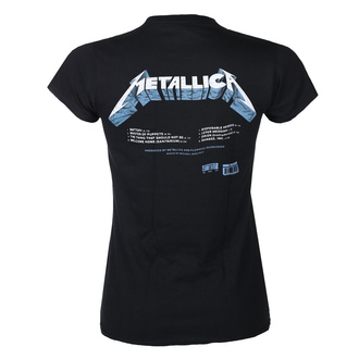 Damen T-Shirt METALLICA - MASTER OF PUPPETS - SPUREN - SCHWARZ - PLASTIC HEAD, PLASTIC HEAD, Metallica
