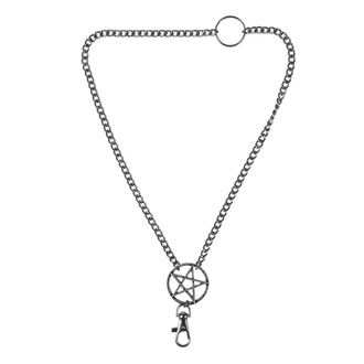 Halsband Pentagramm, Leather & Steel Fashion