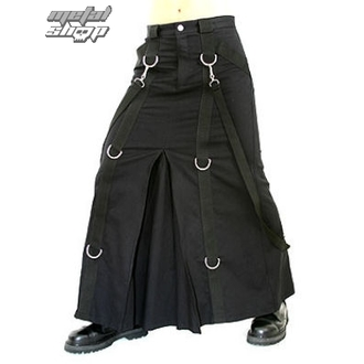 Kilt Aderlass - Chain Skirt Black Denim, ADERLASS