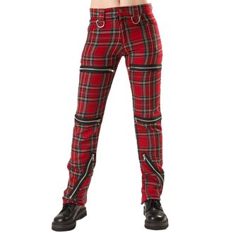 Hose Damen Black Pistol - Destroy Pants Tartan Red - B-1-20-060-04