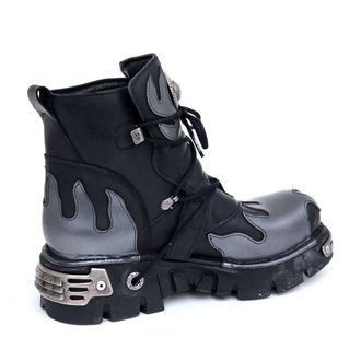 Schuhe NEW ROCK - Flame Shoes (288-S2) Black-Grey
