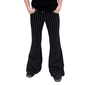 Damen Hose  Mode Wichtig - Flares Pin Stripe Black-White - M-1-08-050-01