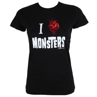 Damen T-Shirt KREEPSVILLE SIX SIX SIX - Heart Monsters Foil Tee - GTHMF