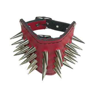 Armband red Spikes 4