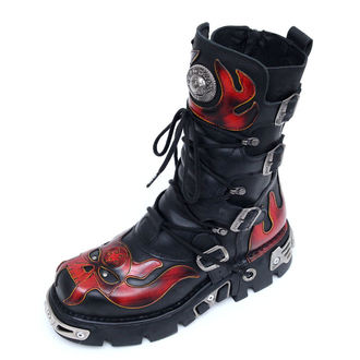 Schuhe NEW ROCK  - Vampire Boots (107-S1) Black-Orange