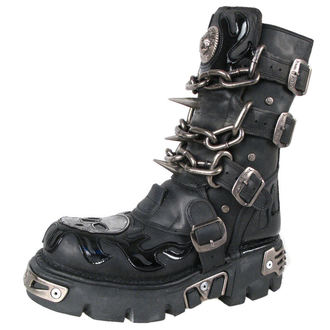 Schuhe NEW ROCK  - Chain Boots (727-S1) Black - N-8-06-700-00