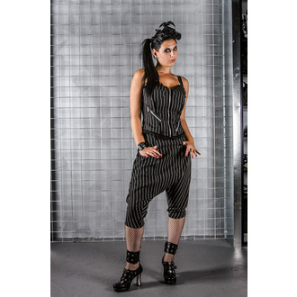 Damen Korsett  HELL BUNNY - Emmy top Pinstripe - Black/White
