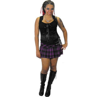 Damen Rock  HELL BUNNY - Purple Chelsy Mini Skirt - 5051