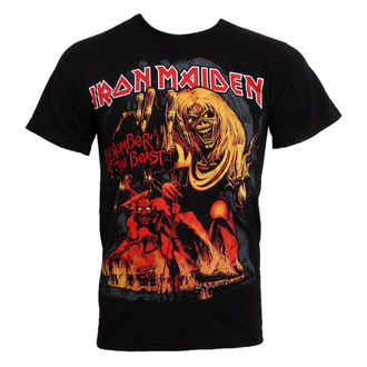 Herren T-Shirt Iron Maiden - The Number of the Beast - EMI - IMTEE12MB
