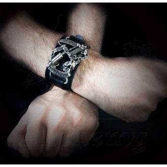 Armband Pain is Pleasure Leather Strap - ALCHEMY GOTHIC - ULA4