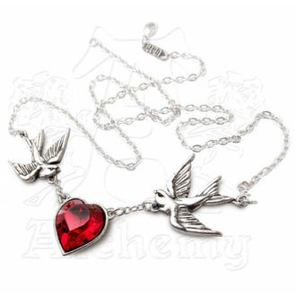 Halskette Swallow Heart Pendant - ALCHEMY GOTHIC - ULFP1