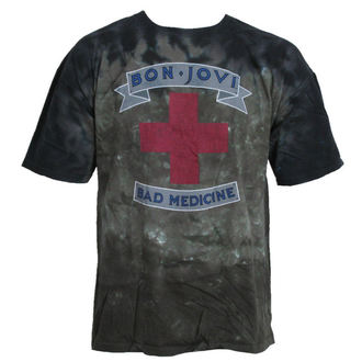 Herren T-Shirt Bon Jovi - Bad Medicine - LIQUID BLUE  - 11952