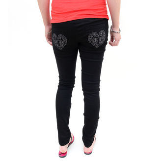 Damen Hose  -skinny- IRON FIST - Heatlocked - BLACK - IFL0570