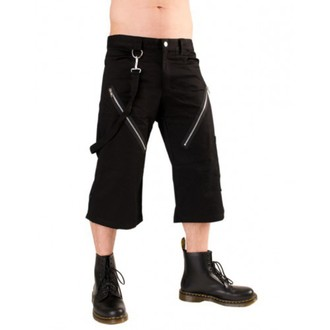 Männer 3/4 Shorts Black Pistol - Zip Short Pants Black Denim, BLACK PISTOL