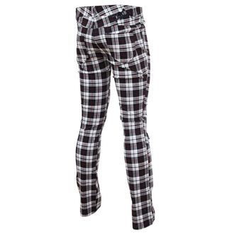 TROUSERS Damen HELL BUNNY - TARTAN PRINTED TROUSERS