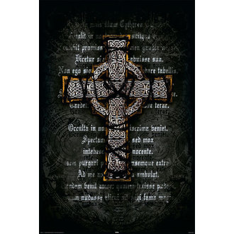 Poster Gothic Cross - Rolled - REINDERS  14907