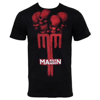 Herren T-Shirt Marilyn Manson - Skull Cross - BRAVADO USA  -MAN1024