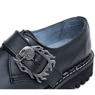 Lederstiefel/Boots KMM 3-Loch - Big Skulls Monster Black 1P