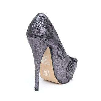 Damen Pumps IRON FIST  - Ruff Rider Platform - PEWTER - IFLPLH00399S12