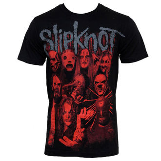Herren T-Shirt Slipknot - Red Faces, BRAVADO, Slipknot